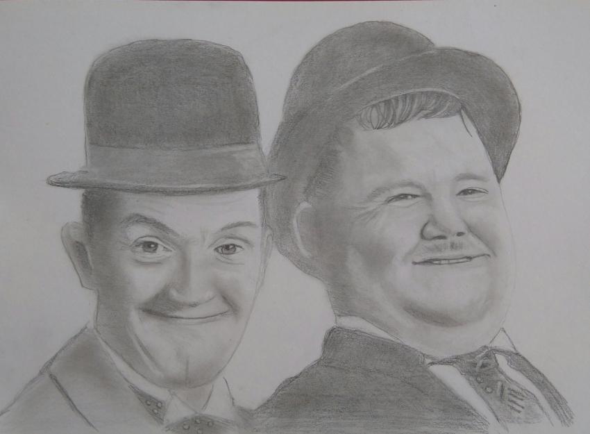 Oliver Hardy, Stan Laurel par paulb